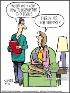 'Would you know how to repair this old book?'