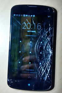 Nexus con la pantalla rota